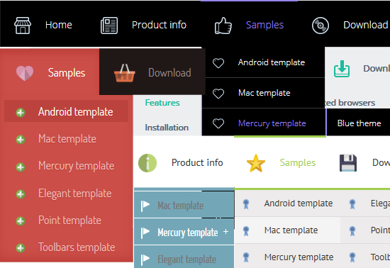 Create CSS3 Menu absolutely FREE!