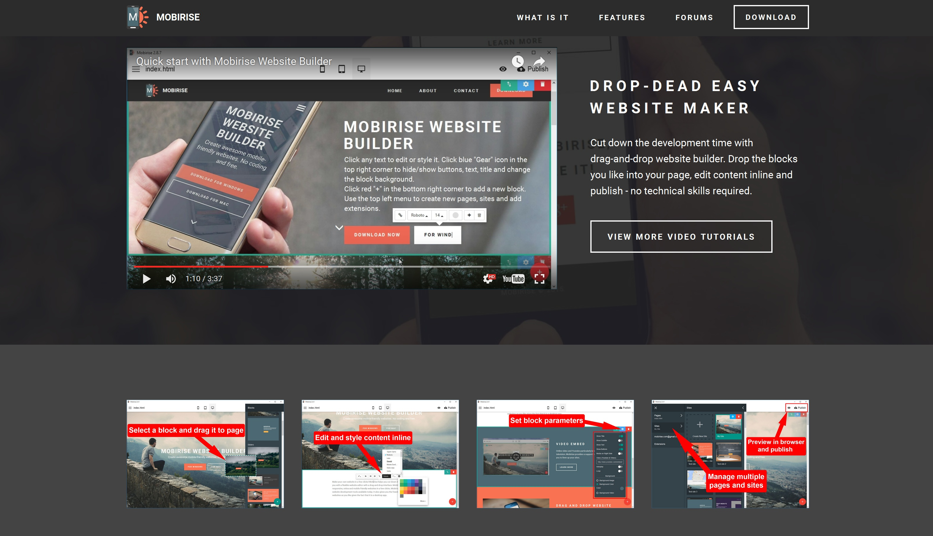 Responsive Mobile Website Creator