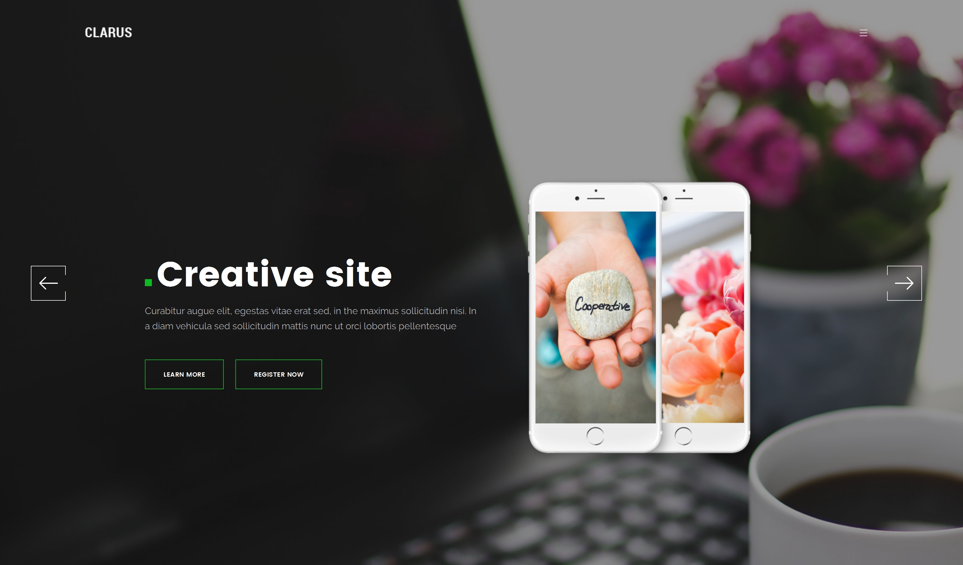 Free Download Bootstrap One Page Theme