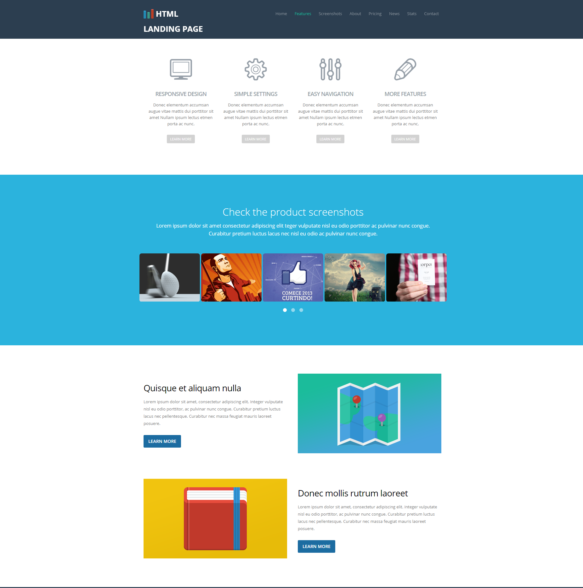19 Fresh e Page and Landing Page Bootstrap Theme Collection