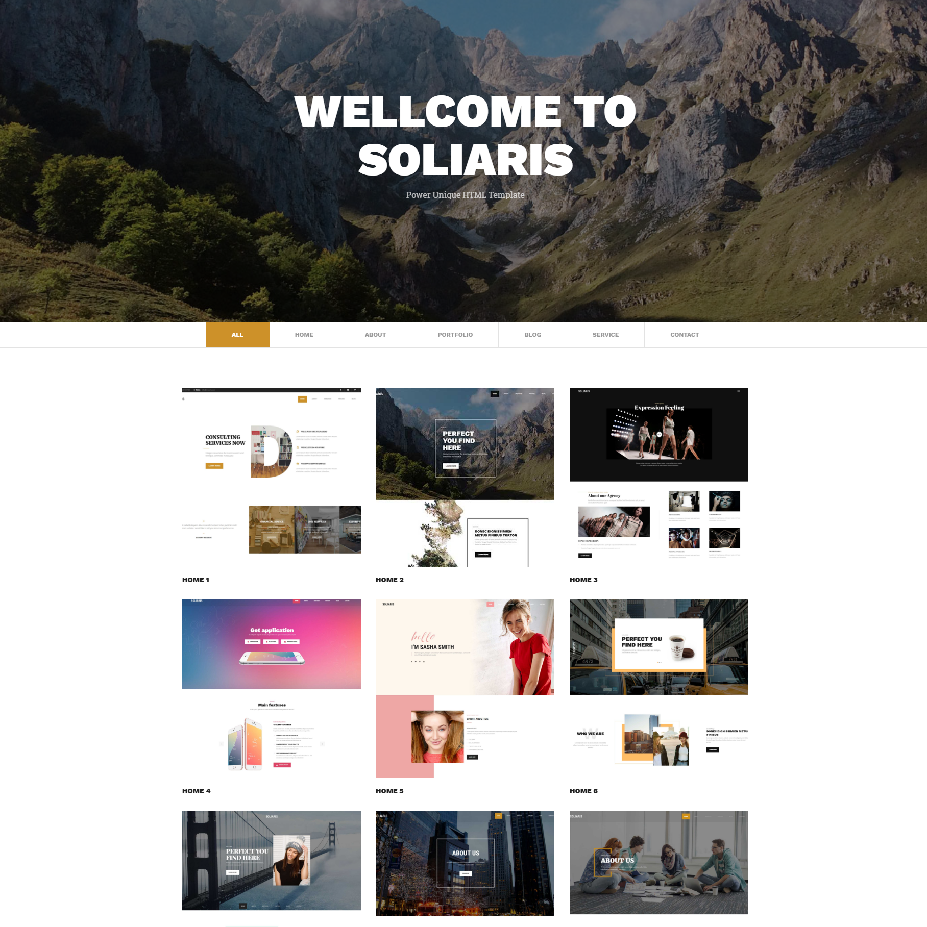 HTML Bootstrap Soliaris Themes