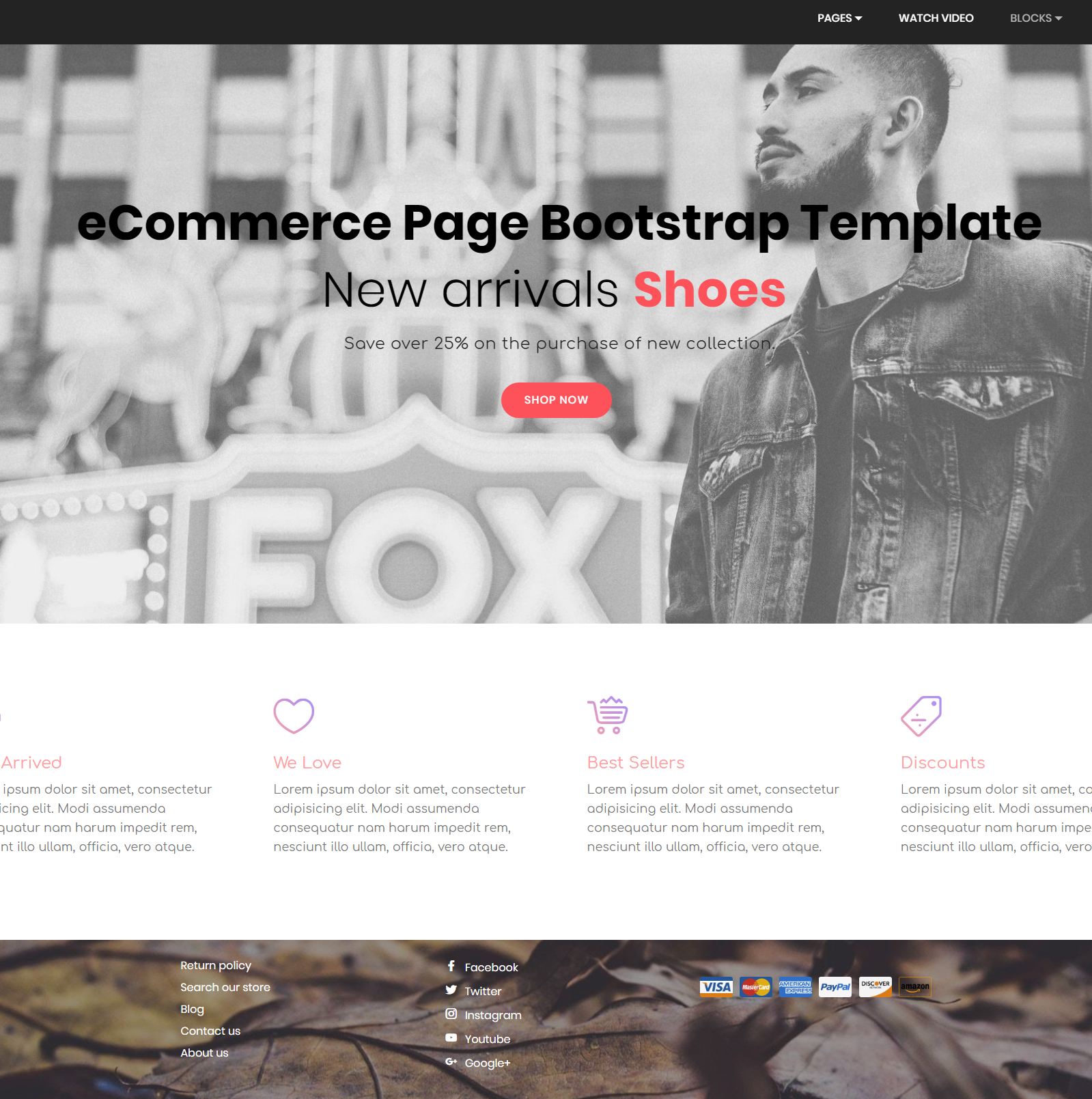 Free Download Bootstrap eCommerce Templates