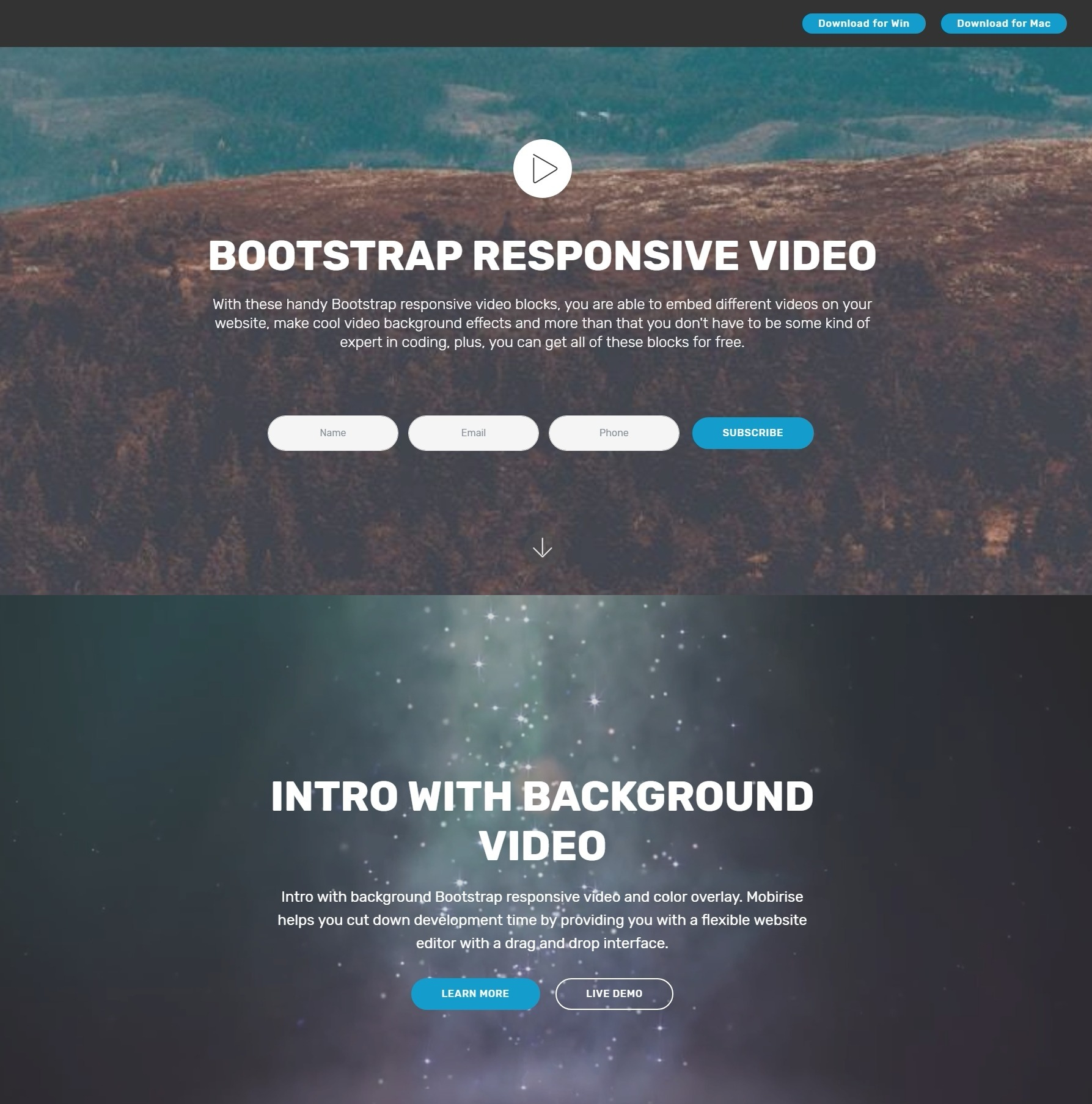 Nice and Simple Responsive Bootstrap Responsive Video