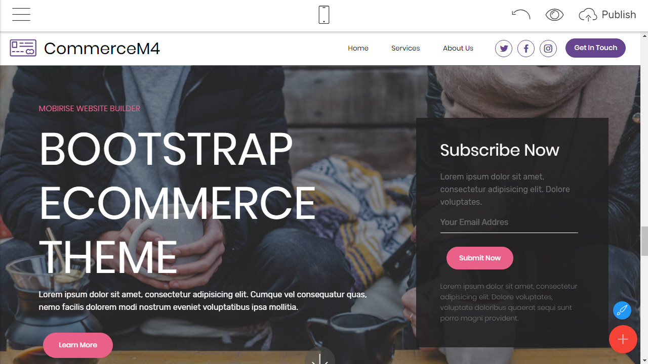 bootstrap ecommerce theme