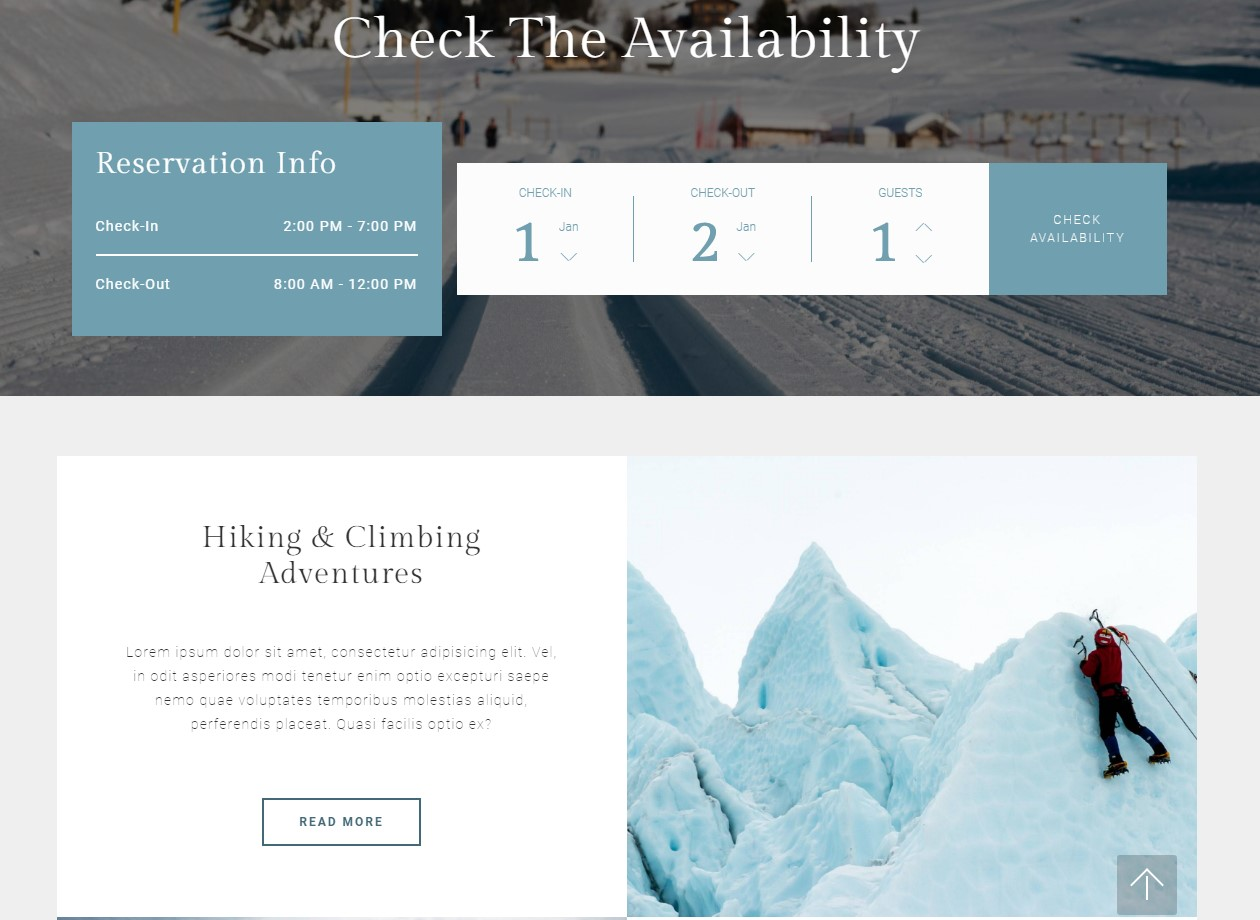 Responsive Theme for Resort Website