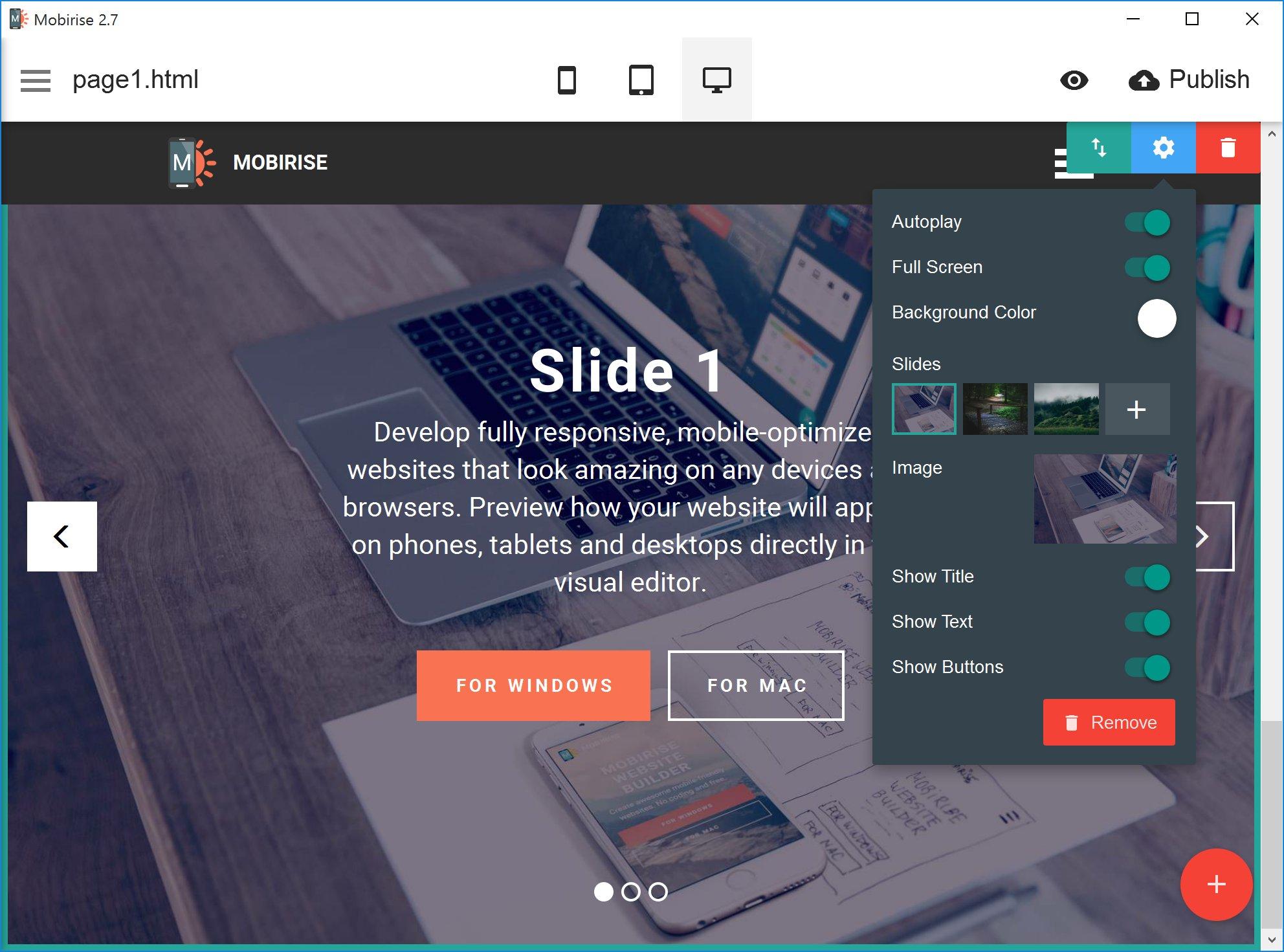 Fresh Offline Free Website Maker - Mobirise App Review