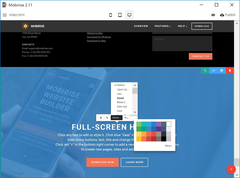 Offline Simple Website Builder Software