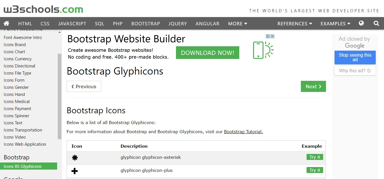bootstrap icons glyphicons