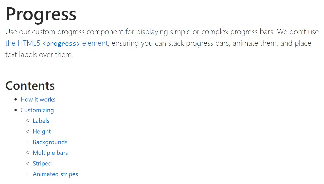 Bootstrap progress bar  main  documents
