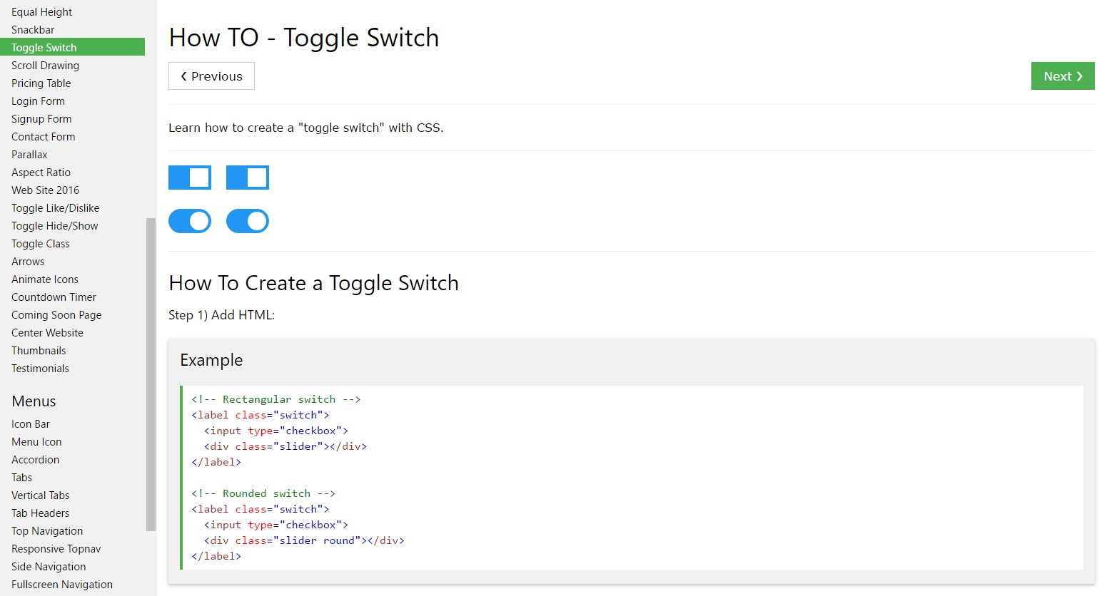 Tips on how to  make Toggle Switch