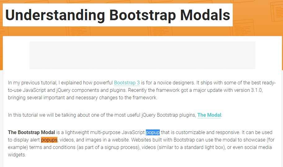 One more  helpful article  concerning Bootstrap Modal Popup