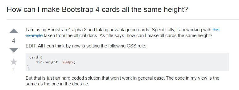 Insights on how can we  build Bootstrap 4 cards just the  very same tallness?