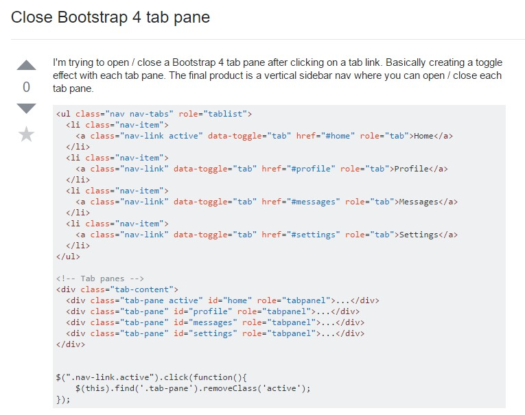 Ways to  shut off Bootstrap 4 tab pane