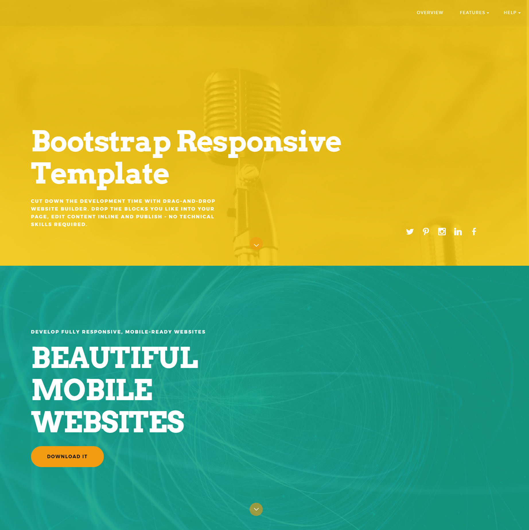 HTML Bootstrap Responsive Templates