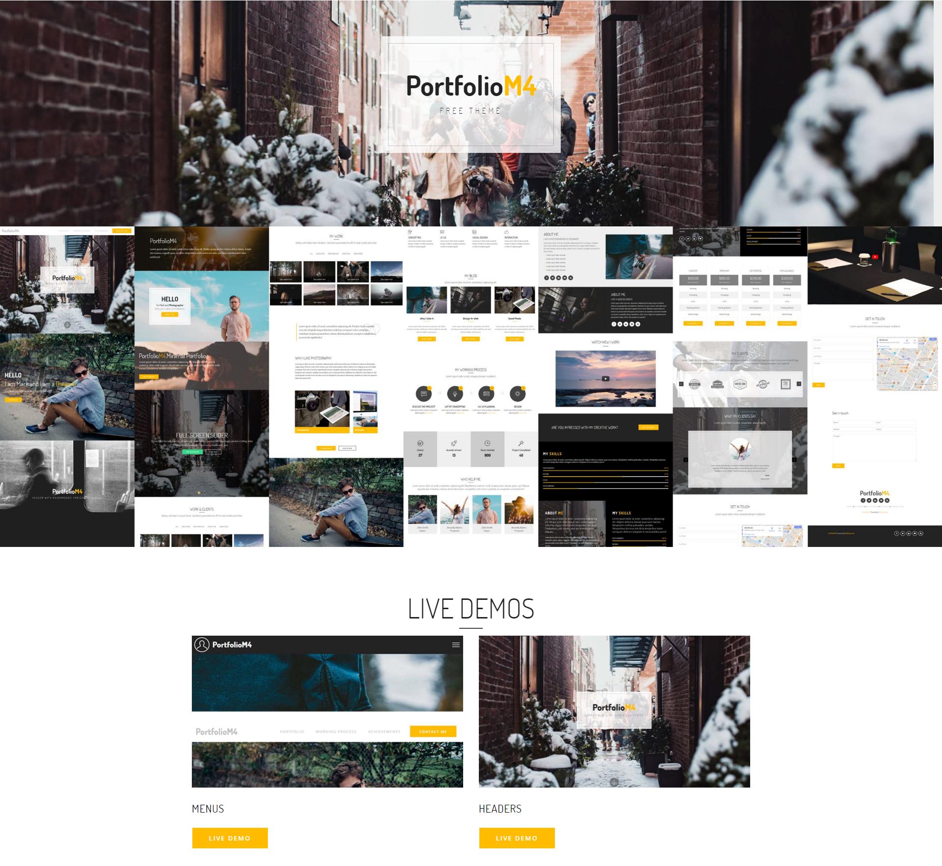 HTML Bootstrap PortfolioM4 Templates