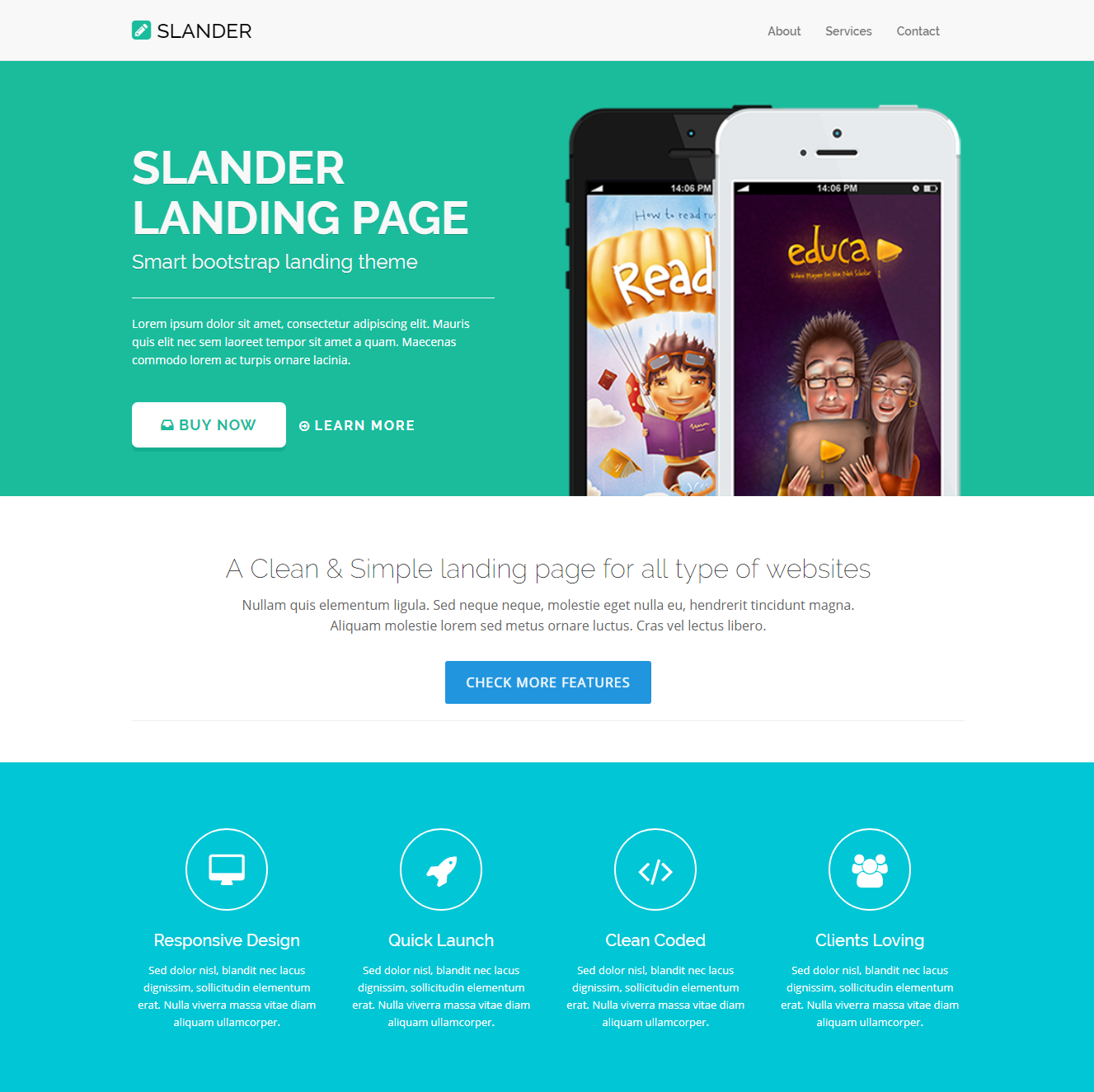 HTML Bootstrap Slander Templates
