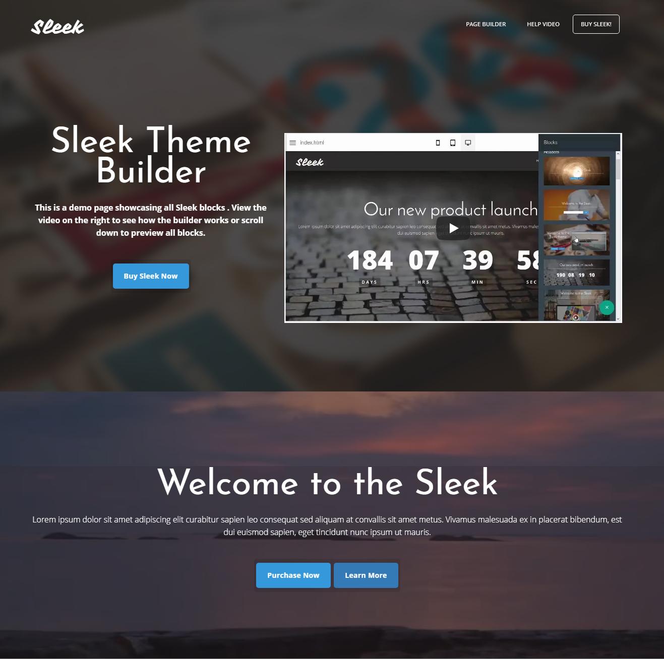 Free Download Bootstrap Sleek Templates