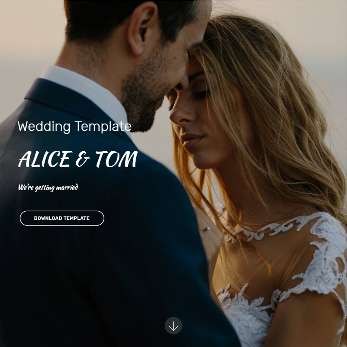 Free Download Bootstrap Wedding Themes