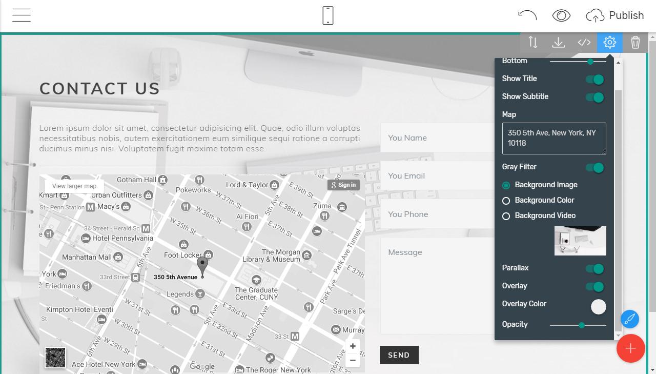 responsive design website builder