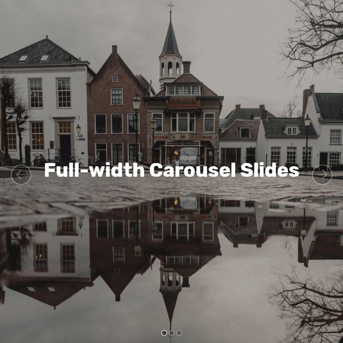 HTML Bootstrap Photo Slideshow