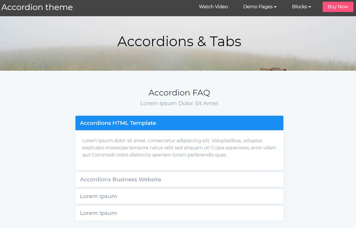 Mobile-friendly Accordion Tabs