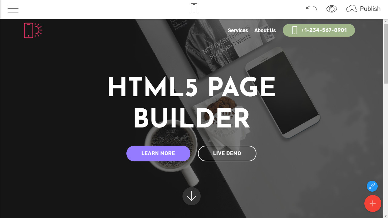 html5 site builder