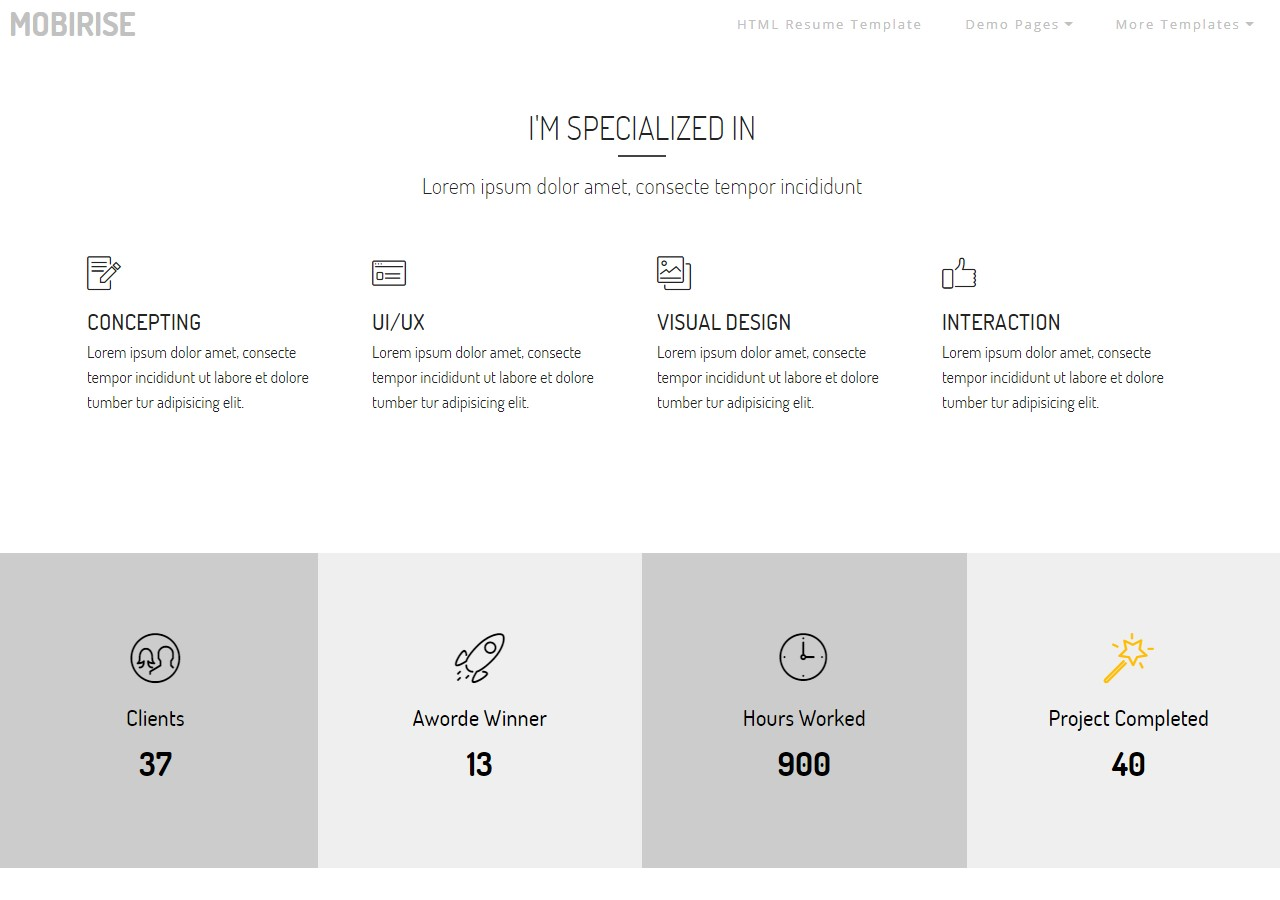 Personal Website HTML Template