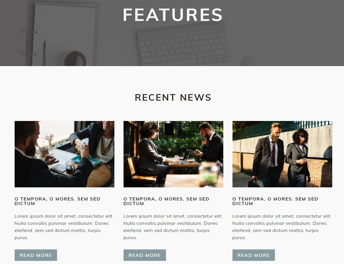 Features HTML Template