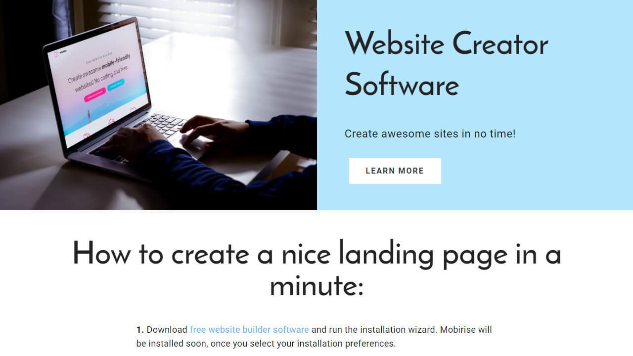 Free Website Creator Software
