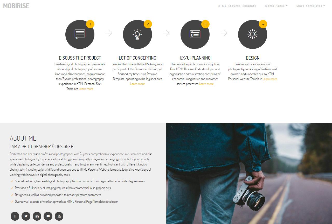 HTML Resume Template