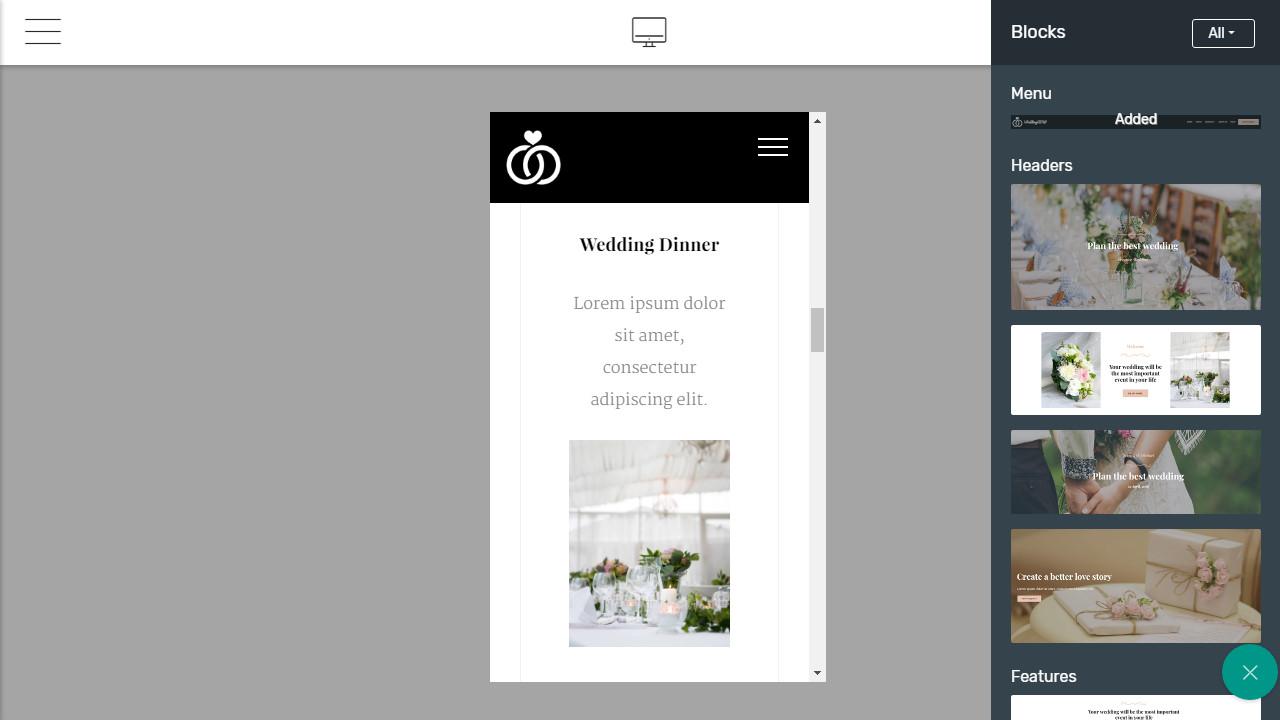 github wedding bootstrap template