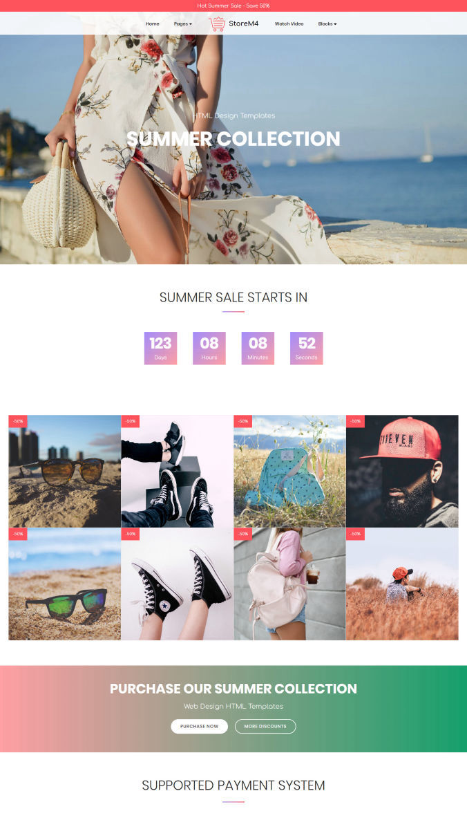 Shopping Bootstrap Template