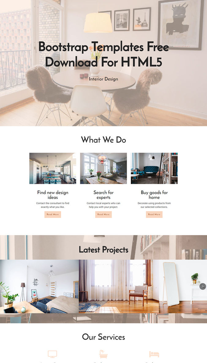 Website Template with HTML