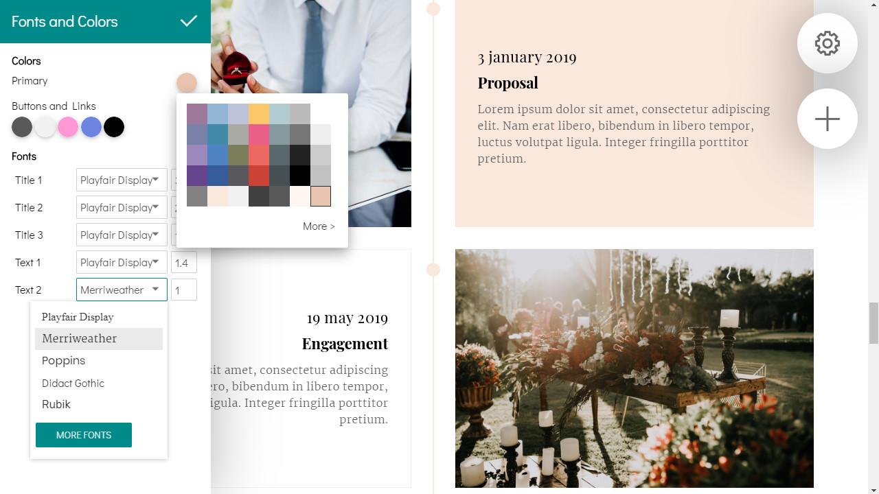 best website builder for wedding websites
